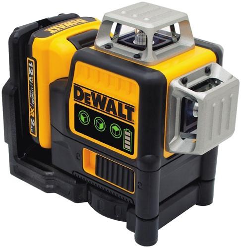 Dewalt DCE089D1G 12V Zelfnivellerende Multilijnlaser 3x360 Groen (TSTAK, 1x2,0Ah)