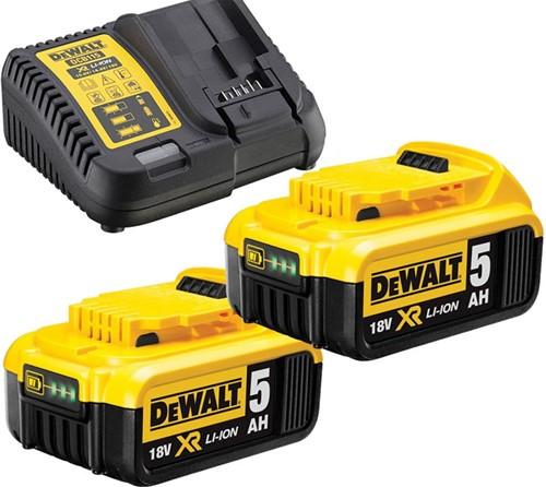 Dewalt DCB115P2 Startset 18V 2x5,0Ah & XR Multilader