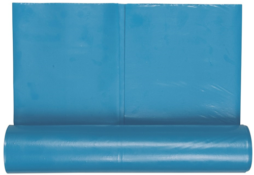 Blauwe Vuilniszak 70x110cm 0,07mm Dik (10 Stuks)