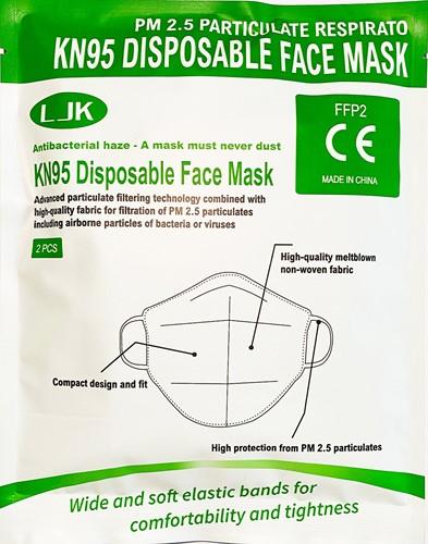 Mondkapje  FFP2/N95 Kwaliteit (2 Stuks)
