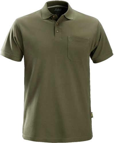 Snickers Polo Shirt Donker Groen XS